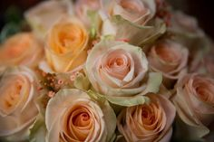 My beautiful wedding bouquet! Princess Diana Roses