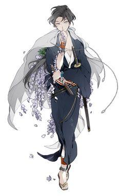 新選組比翼録 勿忘草 Boy Character, Character Drawing, Character Concept, Anime Kimono, Manga Art, Manga Anime, Anime Art, Anime Boys, Yukata