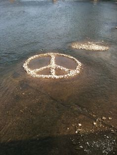 peace sign rocks More