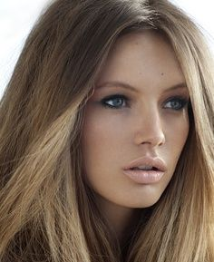 perfect naked makeup, pretty girl