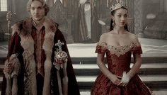 francis and mary after being crowned the king and queen of france