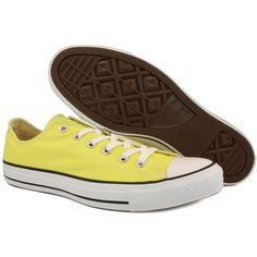 Converse Chuck Taylor All Star OX 136817C Womens Laced Canvas Trainers Yellow