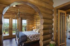 Love the log homes!