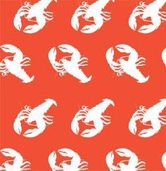 lobster wallpaper mural