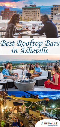 Best Rooftop Bars in Asheville, N. Take your Asheville experience to the next level! Discover incredible views of the Blue Ridge Mountains and the city skyline from the growing selection of unique rooftop bars in Asheville, N. With nine rooftop bars Downtown Asheville Nc, Visit Asheville, Asheville Food, Ashville North Carolina, Ashville Nc, South Carolina, Oh The Places You'll Go, Places To Travel, Bon Voyage