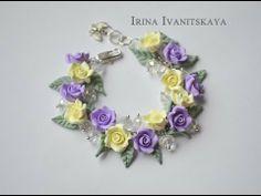 """Bracelet """"Roses"""" Tutorial. Браслет """"Розы"""" мастер-класс из полимерной глины"""