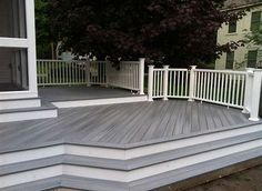 Composite decking is a great alternate to all-wood decking and also is made from materials that include recycled as well as new plastic, bamboo, as well as timber fibers. Lots of synthetic or . Read MoreA Guide to Composite Decking Ideas Brands Patio Deck Designs, Patio Design, White Deck, Gray Deck, Grey Deck Stain, White Pergola, Deck Colors, Deck Stain Colors, Trex Decking Colors