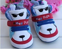Cool Korean Style Unique Cartoon Design Kids Boy Shoes Cute Dog Pattern Children's Footwear Lace up And Velcro First Walker-in First Walkers from Shoes on Aliexpress.com $7.50
