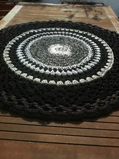 crochet rug from tricot