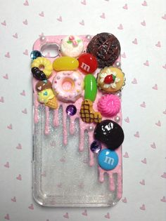 Melted Ice Cream Flawed Decoden iPhone Case