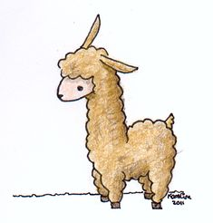 Image result for llama easy to draw