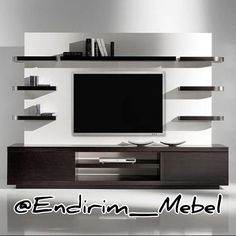 Small tv cabinet design flat screen mount living room projects to try living room floating shelves Bathroom Shelf Decor, Diy Bathroom, Tv Wall Decor, Bathroom Design Small, Bathroom Storage, Wall Tv, Small Bathrooms, White Bathroom, Kitchen Storage