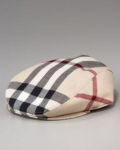 Mega-Check Baby Driver Hat by Burberry at Neiman Marcus. a0610183f22