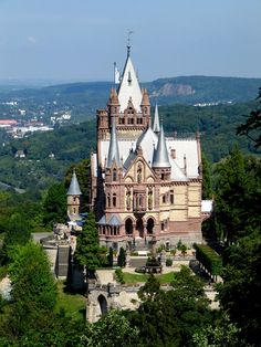 Schloss Drachenburg (Drachenburg Castle) Königswinter on the Rhine near Bonn GERMANY