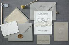 Sarah & Ted's Letterpress Wedding Invitations   Foglio Press