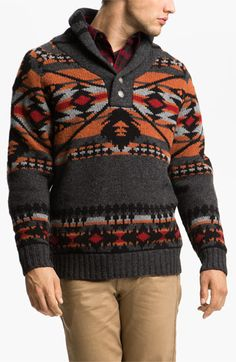 Pendleton Shawl Collar Sweater available at #Nordstrom