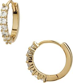 Bishilin Gold Plated Womens Stud Earring Green CZ Snowflake 3 Prong Earrings