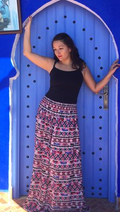 Maxi jupe Mimoza-Style    #jupe #skirt #bohème #hippie #boho #aztèque #orientale