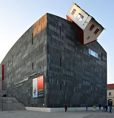 Museum of Modern Art (MUMOK) in Vienna, Austria. The house fell a little too far to the left!