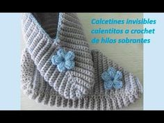 Calcetines invisibles calentitos a crochet de hilos sobrantes №9 - YouTube