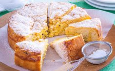 Passionfruit curd teacake recipe - By Woman's Day, This fluffy teacake is beautifully moist from the homemade passionfruit curd swirled through. Enjoy a big slice with a cuppa for morning or afternoon tea.