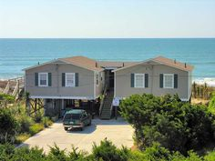 Louie Louie West a 3 Bedroom Oceanfront Rental Duplex in Emerald Isle, part of the Crystal Coast of North Carolina. Includes Hi-Speed Internet