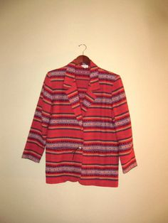 vintage Navajo southwestern woven blazer by mellowrabbit on Etsy, $32.00