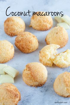 Crunchy out the outside, moist on the inside. The white chocolate gives the coconut macaroons the right touch of sweetness.