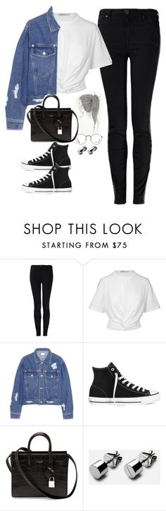 """#Style"" by rosana-storyofmylife ❤ liked on Polyvore featuring Vivienne Westwood Anglomania, T By Alexander Wang, Steve J & Yoni P, Converse, Yves Saint Laurent and Ray-Ban"