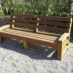 Hardwood Timber Seat Tooting Park Bench - Woodscape Timber #outdoor #furniture #landscaping