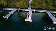 Drone photography on a wedding day   lake venue   Nakasato Photography   seven seas   hartland, WI   wedding day drone