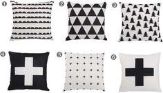 poduszki w skandynawskim stylu