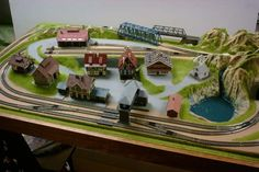 N scale that needs trees and shrubs