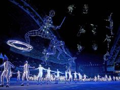 Light-up roller-skaters at the Sochi 2014 Olympics opening ceremony. (Photo Ryan Pierse/Getty Images via nbcnews.com)