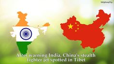 After warning India, the most modern China's fighter jet in Tibet