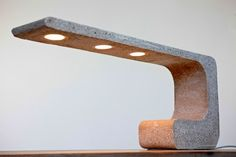"Concrete Lamp ""Extrude Desk"" lamp."