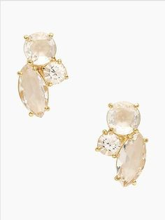 Loving Kate Spade's oversize rhinestone studs - especially since they're on sale!