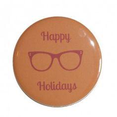 Happy Holidays - orange et prune