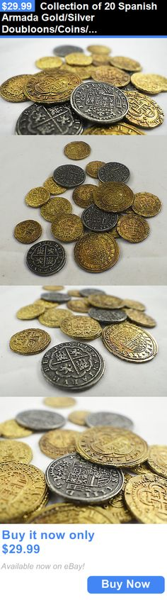 Bullion: Collection Of 20 Spanish Armada Gold/Silver Doubloons/Coins/Pirates/Treasure BUY IT NOW ONLY: $29.99