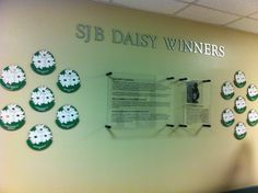 Wall of Fame! Permanent tribute to your DAISY program and recipients.
