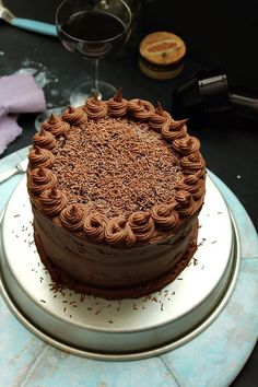 Chocolate & Nutella Layer Cake by Nina Gabelica