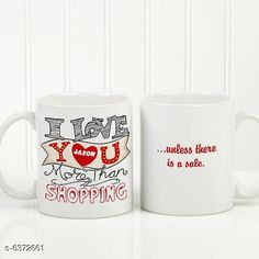Cups, Mugs & Saucers Coffee Mug For Couples gifts and personal use, ceramic mug set of 2 Material: Ceramic Pack: Pack of 2 Country of Origin: India Sizes Available: Free Size   Catalog Rating: ★4.3 (2031)  Catalog Name: Trendy Coffee Mugs & Gifts CatalogID_1013227 C190-SC2066 Code: 692-6372661-546