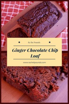 This loaf is moist and packed with ginger flavor and chocolate!
