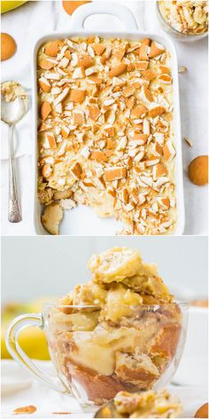 Old-Fashioned Banana Pudding - Sweet and creamy pudding with oodles of Nilla Wafers! A classic comfort-food dessert that's so good!