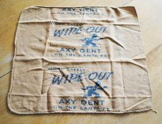 Vintage Santa Fe Railroad Shop Towel  Mascot Axy Dent  Safely Wipe Out Axy Dent on the Santa Fe Trail by SalvageNation on Etsy