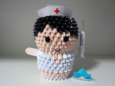 Origami 3D - Enfermeira