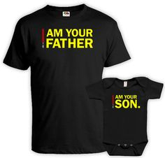 Matching Shirts Dad And Baby  - Price advertised includes a 2 Piece Matching Set. - Default Color is Black - If you prefer a different color, please