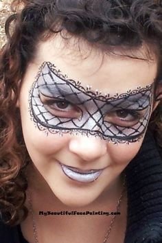 face painting mask designs | Silver face paint mask for your masquerade party. ... | Face Painting