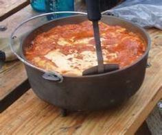 Dutch Oven Cooking.  This is the best form of outdoor cooking....YUMMY