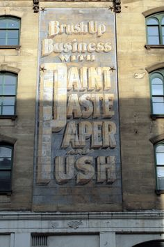 GHOST SIGNS VERNACULAR TYPOGRAPHY